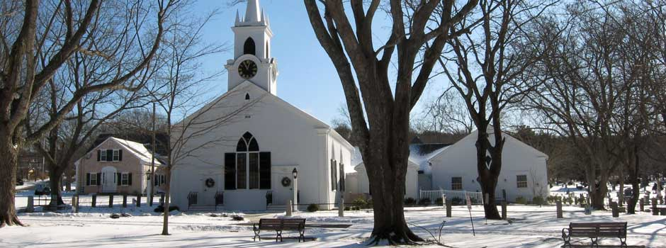 Dennis Union Church - snowscape