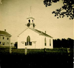 A photo of the church from the 19th century